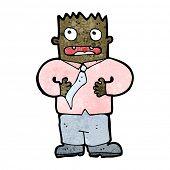 cartoon shocked man
