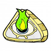 stock photo of all seeing eye  - all seeing eye cartoon - JPG