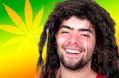 picture of rastafari  - handsome young man with dreadlocks  - JPG