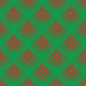 Vector Pattern - Red And Green Squamous