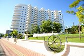 ALANYA - JULY 15: The residential complex of My Marine Residence, July 15, 2012 in Alanya, Turkey. It is famous complex in sea stylistics on territory of 45,000 sq. m.