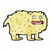 cartoon furry dog poster