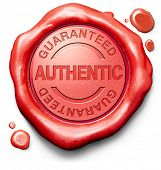 guaranteed authentic stamp red wax seal quality label authenticity guarantee assurance label for hig