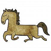 cartoon horse prancing