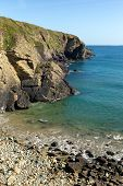 Caerfai Bay beach Pembrokeshire West Wales