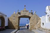 Old Entrance To The Caleta Beach In Cadiz