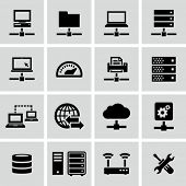 Internet, server, network icons