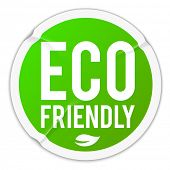 Eco friendly - wrinkled sticker - raster version