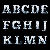 Shiny diamond alphabet letters (uppercase)- raster version