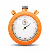 The vibrant orange stopwatch