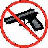 Hand Gun With No Symbol.
