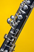 Oboe Up Close On Yellow