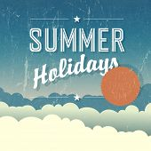 Summer Holidays Poster. Vector