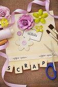 making of scrapbook greeting card