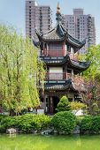 detail of Wen Miao confucian confucius temple in shanghai china popular republic