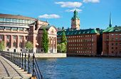 A View Of Stockholm Old City, Sweden