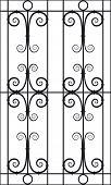Seamless Vector Illustration of Wrought Iron Design Pattern