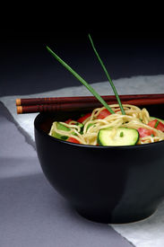 """foto of stir fry  - my first attempt at """"food styling"""" image is sharp and high detail. outtake for an asian restaurant guide that i worked on.   - JPG"""