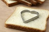 Slice Of Bread With Cut Out Heart Shape