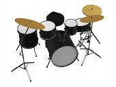 foto of drum-kit  - Drums isolated - JPG