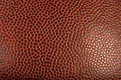 Leather skin macro view of football or basketball