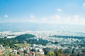 picture of akropolis  - Panoramic view from Areopagus hill in Athens Greece - JPG