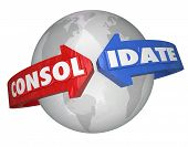 Consolidate Word Around Globe International Business Consolidation