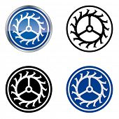 Watchmaker - Traditional Craftsmen's Guild Vector Symbol, four variations