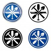 Glazier - Traditional Craftsmen's Guild Vector Symbol, four variations