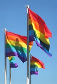 Gay-Pride-Flags, Vancouver, Britisch-Kolumbien