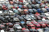 image of junk-yard  - European Car Scrapping in Tenerife Canary Island Spain - JPG