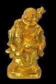 Golden statue Fat Buddha (Budai)