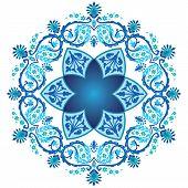 Blue Ottoman Serial Patterns Nineteen