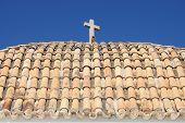 Roof of Church of Santo Domingo in Ibiza
