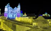 Ice Buildings at the Harbin Snow and Ice Festival