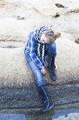 Sad Alone Confused Teenager