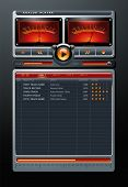 Analog Stereo MP3 Music Media Player detailed vector