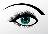 Robotic eye futuristic concept