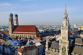 Aerial view of New Town Hall in Munich