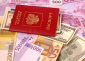 Russian Passport And Money