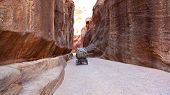 Traveling the Siq, Petra