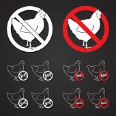 Poultry No signs - blackboard