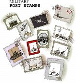 Army, military Post stamps