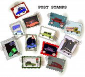 Stamps collection Car set