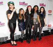 BOSTON-DEC 14: (L-R) Dinah Jane Hansen, Ally Brooke, Camila Cabello, Normani Kordei and Lauren Jauregui of Fifth Harmony attend KISS 108's Jingle Ball 2013 at TD Garden on December 14, 2013 in Boston.