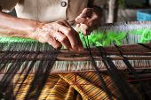 picture of thread-making  - Process of weaving - JPG