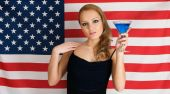 American Flag And Cocktail