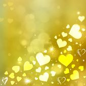foto of corazon  - Valentine Hearts AbstractBackground - JPG