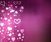 Valentine Hearts Abstract Pink Background. St.Valentine's Day Wallpaper. Heart Holiday Backdrop