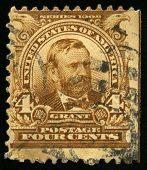 Vintage uns Briefmarke von US-Präsident Grant (1902)